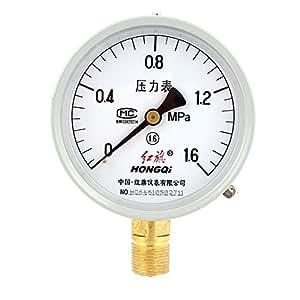 sourcingmap® manómetro marque 0-1.6Mpa Compresor de aire de 1/2 BSP rosca macho