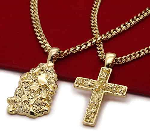 Holidays And Any Other Special Occasions Gold Anniversaries ARB Market 24 Inch 14K Gold Plated 2 Line Fully Cz Cross Pendant Herringbone Necklace Chain Fashion For Men And Women In Birthdays