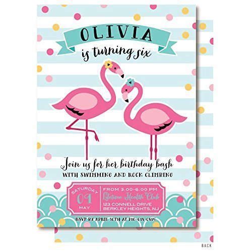 Amazon pink flamingo pool birthday party invitations handmade pink flamingo pool birthday party invitations filmwisefo