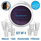 Anti Snoring Nose Vents - Set of 4 Premium Quality Nasal Dilators with Travel Case - The Easiest and Most Comfortable Snore Stop Solution