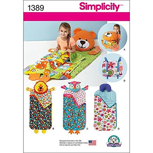 Simplicity Sewing Pattern 1389: Childs Nap Pack Size OS ONE Paper White