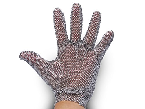 All Stainless Steel, No Fabric - Chainmail Mesh Butcher Glove - Sizes XXS to XL Available - ISO, FDA Compliant by 44Industry (Image #2)