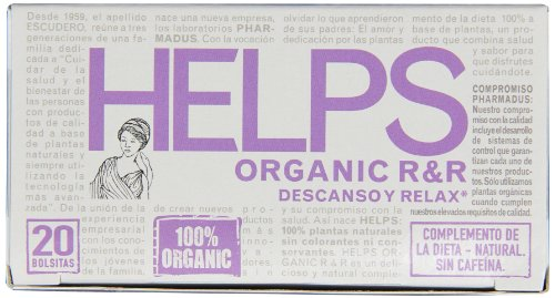 Helps Organic Herbal Teas, Rest and Relax, 20 Count (Pack of 6) by Helps