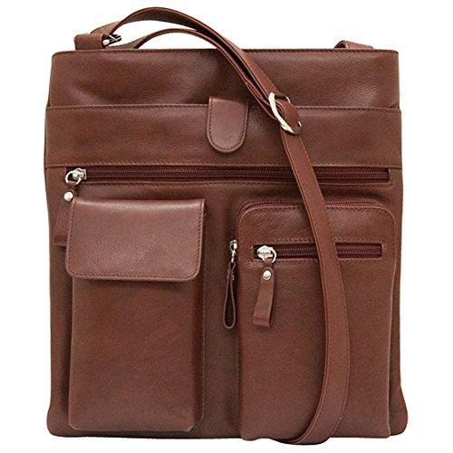 ili Leather 6085 Crossbody Handbag (Redwood)