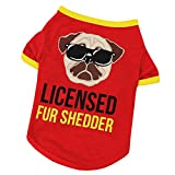 american bulldog puppies for sale - WEUIE Clearance Sale! Puppy Clothes Dog Clothing Polyester T shirt Puppy Costume For Small Dog (M, Red)