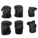 Vinqliq Durable Children Kids Cycling Roller Skating Protective Gear Knee Elbow Wrist Support Protective Pads Guards Set for Skateboard and Other Extreme Sports Equipment (XS (for 8-12 years))