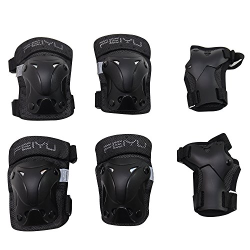 VINQLIQ Durable Children Kids Cycling Roller Skating Protective Gear Knee Elbow Wrist Support Protective Pads Guards Set for Skateboard and Other Extreme Sports Equipment (XS (for 8-12 (Equipment Set)
