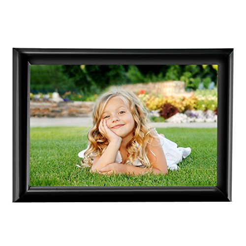 BOJIN 6x8 Inch Picture Frame Without Mat Plastic Home Fun Collage Table Top Photo Frame - Black