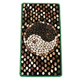 WE&ZHE Natural Stone Pebble Foot Massage Pad Foot Massage Foot Pad Gravel Blanket Pressure Plate (40/75M)