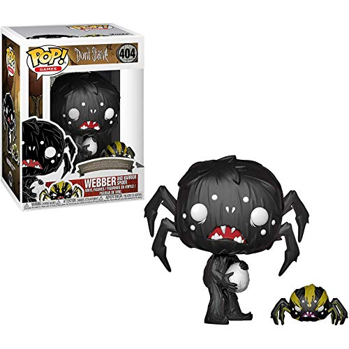 Funko Webber & Warrior Spider: Don't Starve x POP! Games Vinyl Figure & 1 POP! Compatible PET Plastic Graphical Protector Bundle [#404 / 34688 - B]