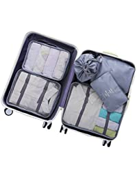 6 pcs Luggage Packing Organizers Packing Cubes Set for Travel