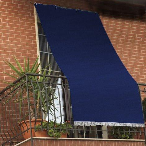 Tenda da sole tessuto resistente per balcone con anelli lavabile a caduta Marrone 140x300 cm