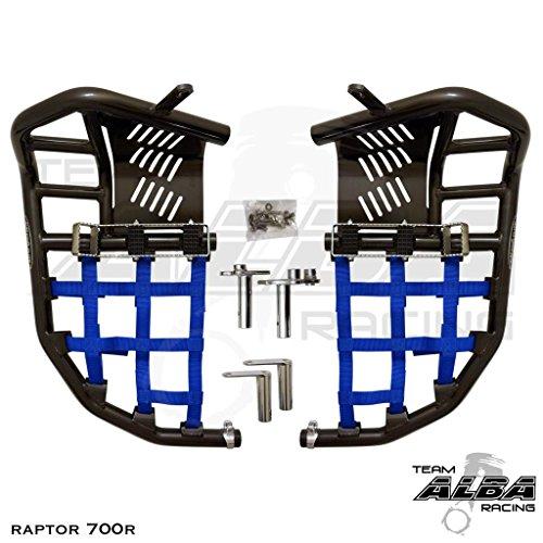 Yamaha Raptor 700 Raptor 700R YFM 700 (2013-2017) Propeg Nerf Bars Black Bars w/ Blue (Nerf Bars Black Nets)