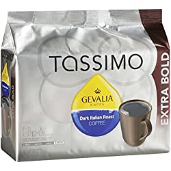 Gevalia Dark Italian Roast Coffee, Extra Bold Roast, T-Discs for Tassimo Brewing Systems, 12 Servings