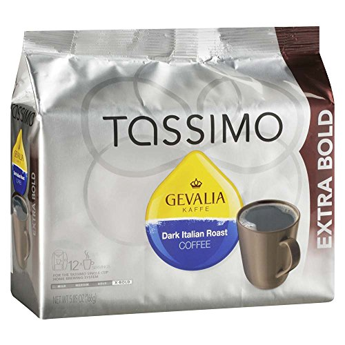 Tassimo Gevalia Dark Italian Bold Roast Coffee T Discs (12 Count) (Best T Disc Flavors)