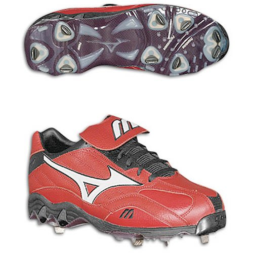 Mizuno Heren 9-spike Classic Low G3 (rood / Wit)