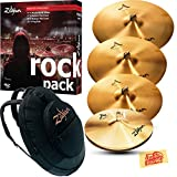 zildjian cymbal pack - Zildjian A0801R Rock Pack Cymbal Set Bundle with Gig Bag and Austin Bazaar Polishing Cloth