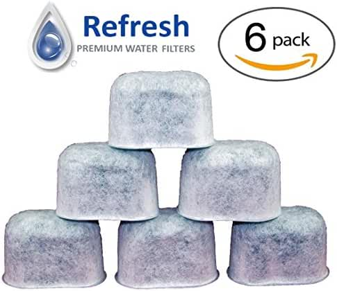 Refresh 6x KEURIG Water Filter Replacement, Universal Fit Charcoal Filters - for Keurig 2.0 and Older Coffee Machines 6-Pack