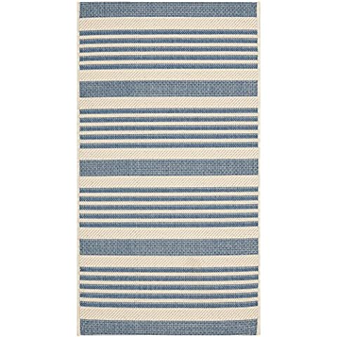 Safavieh Courtyard Collection CY6062-233 Beige and Blue Indoor/ Outdoor Area Rug (2' x 3'7