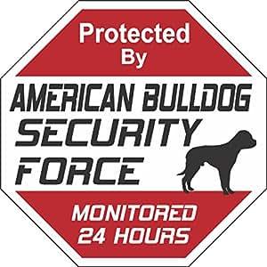 American Bulldog perro fuerza de seguridad señal