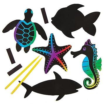 Bastelsets Für Kratzbild Magnete Meerestiere Für Kinder Zum