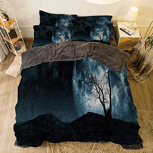 Flannel 4 Piece Cotton Queen Size Bed Sheet