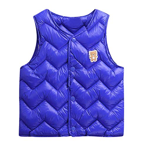 (VEKDONE Winter Frost-Free Vest for Toddler Girls-Sleeveless Solid Warm)