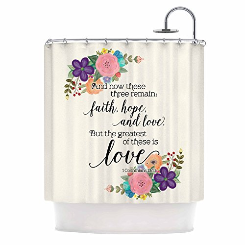 KESS InHouse Noonday Design - Faith Love Hope Home Decoration