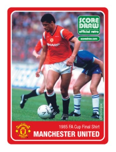 82457aab436 Score Draw Official Retro Manchester United 1985 FA Cup Final Shirt - Small   Amazon.co.uk  Sports   Outdoors