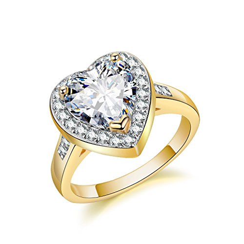 Top 18K Gold Plated Diamond Wedding Ring - 7