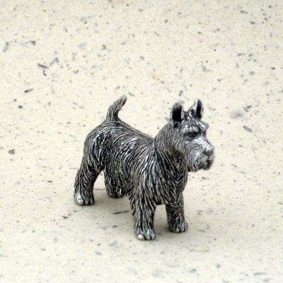 DANFORTH - Scottish Terrier Dog - Pewter Figurine - 1 1/2 Inches - Handcrafted - Made in USA