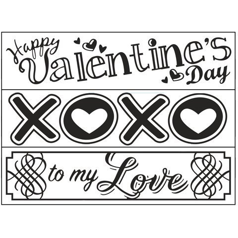 10.8 x 14.6 cm Darice Valentines Embossing Folder Transparent