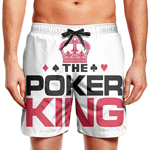 BIAOSD Men's Board Shorts Quick Dry Poker King Swim Board Trunks