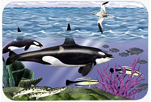 "Caroline's Treasures PTW2040JCMT Whale Orcas Kitchen or Bath Mat, 24 by 36"", Multicolor from Caroline's Treasures"
