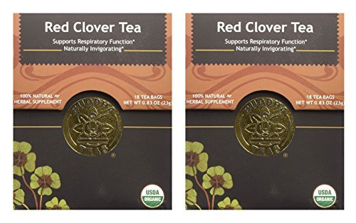 Organic Red Clover Tea - Kosher, Caffeine Free, GMO-Free - 18 Bleach Free Tea Bags (2 pack)