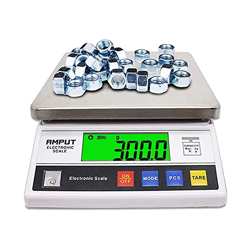CGOLDENWALL High Precision Digital Accurate Analytical Electronic Balance Laboratory Lab Scale Industrial Weighing and Counting Scale with Counting Function CE 0.1g (5kg, 0.1g)
