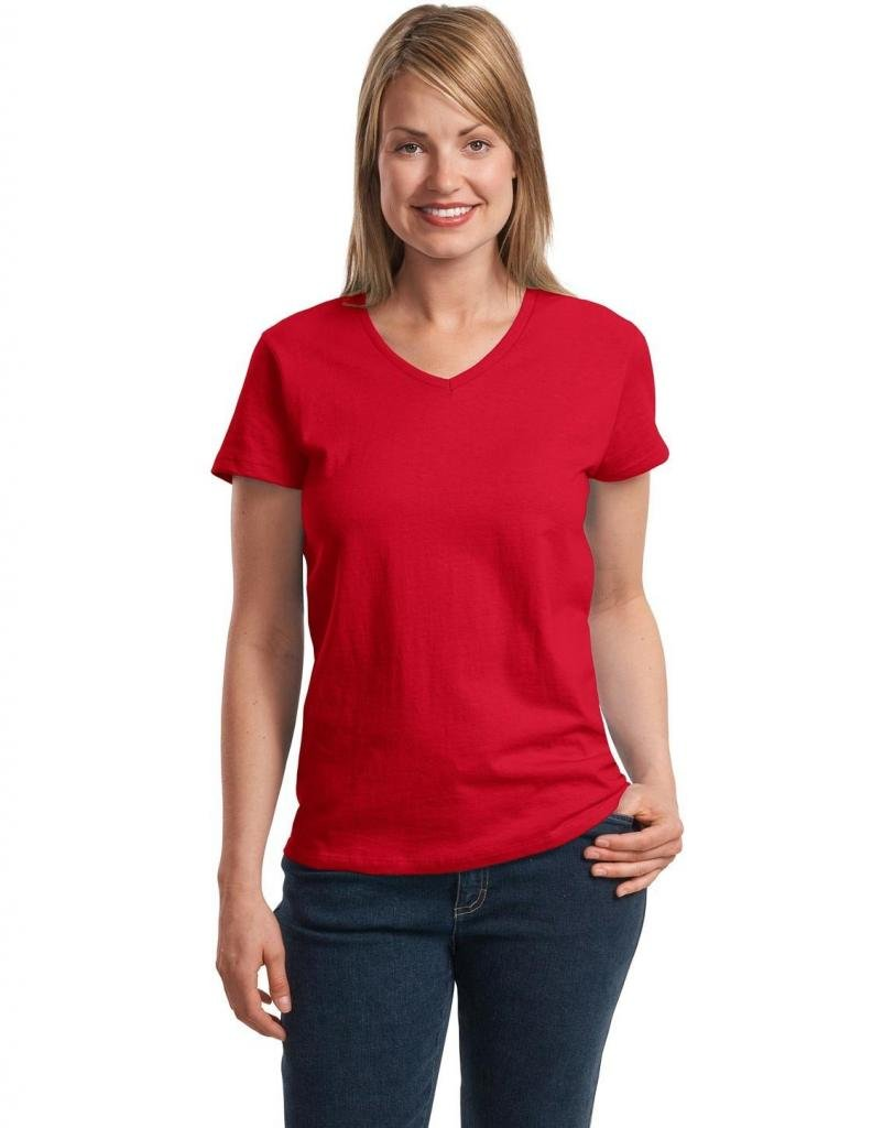 Hanes Women's Relax Fit Jersey V-Neck Tee 5780