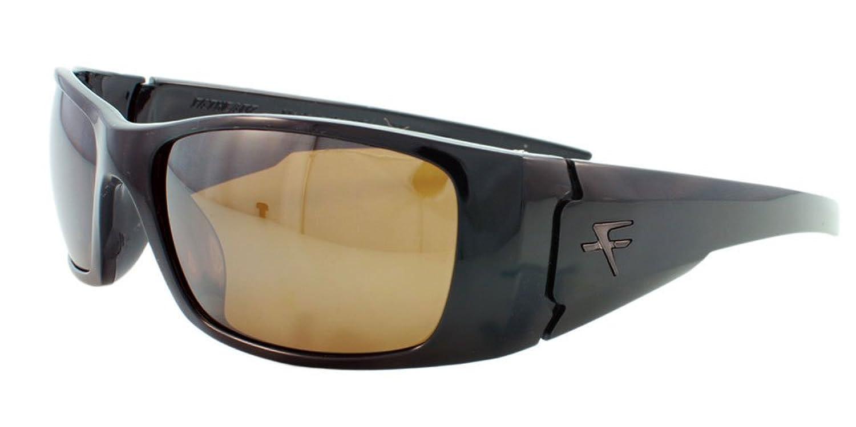 52e9304d841 Fatheadz Eyewear Men s Nitro V2.0 FH-V122-1BR Polarized Wrap Sunglasses