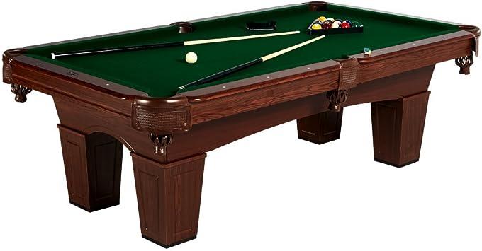 MD Deportes tradicional mesa de billar de pierna cuadrado, 8