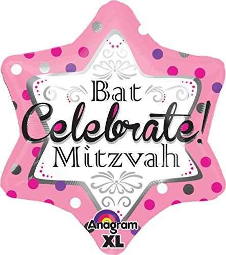 Anagram-International-Bat-Mitzvah-Pink-Jr-Shape-Balloon-21-Multicolor