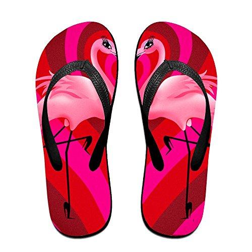 Kids A Men Couple Flamingos Black PTJHKET Slippers of Flops for Women Flip vqp46A