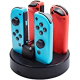Charging Dock for Nintendo Switch Joy-Con, OOOUSE Controller Charger for Nintendo Switch with Charging Indicator, 2 USB Port, Charging Dock Stand Station for Nintendo Switch
