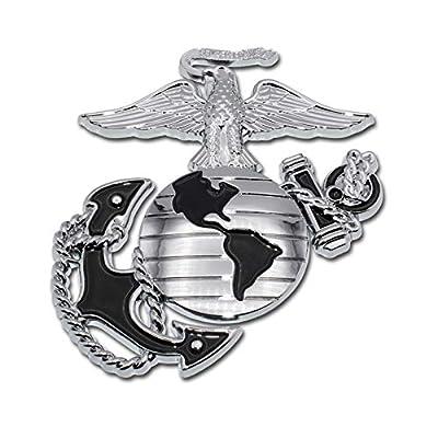 Elektroplate Marines Premium Anchor Black Chrome Auto Emblem: Automotive