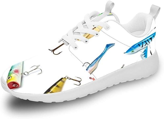 Mesllings Zapatillas de Running Unisex con Diferentes Patrones de pez, Ligeras, Deportivas, para Exteriores: Amazon.es: Zapatos y complementos