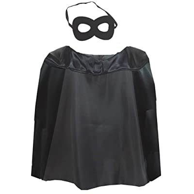 NOVELTY GIANT WWW.NOVELTYGIANT.COM Childrens Super Hero Villian Mask & Cape Black: Toys & Games