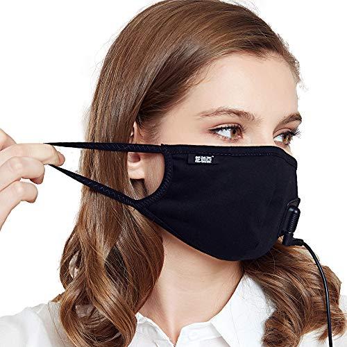 Monbessi Outdoor Intelligent Heating mask Carbon Fiber far Infrared Heating mask Flower dust flu Bacteria Cold Gas Allergy Men and Women mask