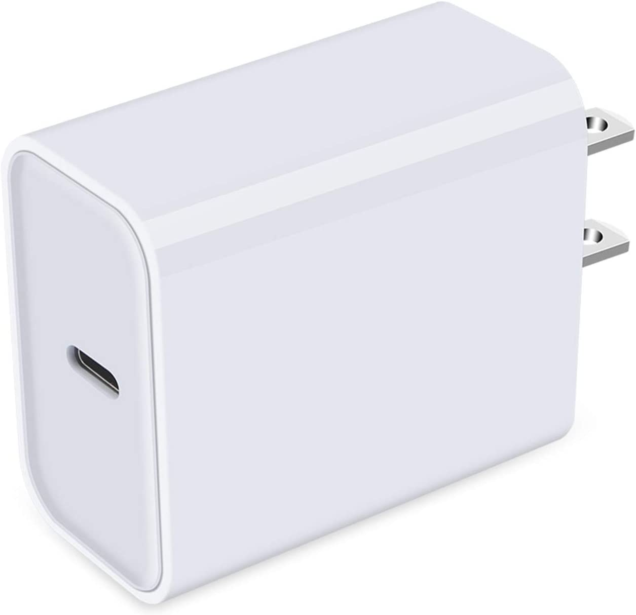 USB C Wall Charger Fast Charging for iPhone 12, 18W Type C Charging Block Brick Box Wall Adapter Plug PD Fast Charger for iPhone 12 11 Pro Max SE XR XS X 8, Samsung Galaxy S21 S20, Pixel 6 5XL 4A 4XL