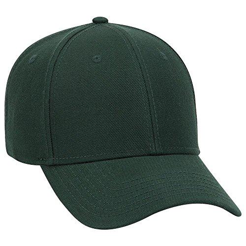 (OTTO Wool Blend Twill 6 Panel Low Profile Baseball Cap - Dk. Green)