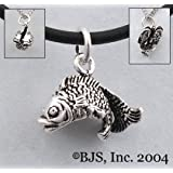 Double Koi Fish Necklace - Sterling Silver Animal Jewelry