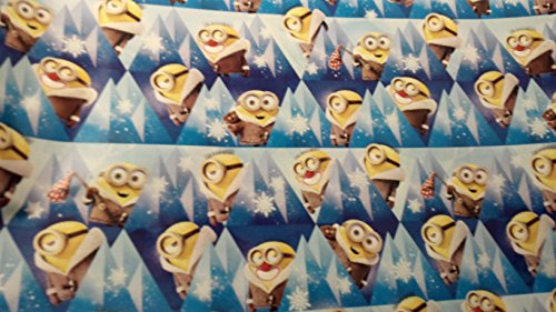 [Christmas Wrapping Despicable Me Minions Holiday Paper Gift Greetings 1 Roll Design Festive Wrap Minion Dark] (Despicable Me Costume Walmart)